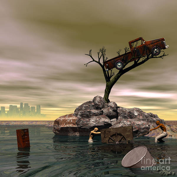 Digital Art - The Apparition Of The City Of Tears by Walter Neal