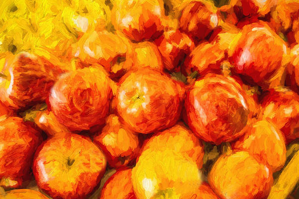 Painting - Apple A Day - Impressionism by Barry Jones