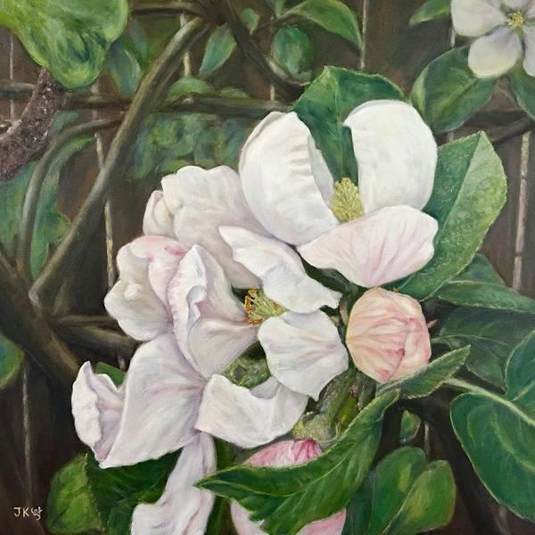 Wall Art - Painting - Apple Blossom by Jennifer Kwon