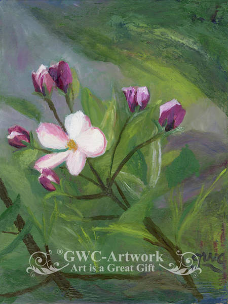 Wall Art - Painting - Apple Blossoms by Gloria Condon