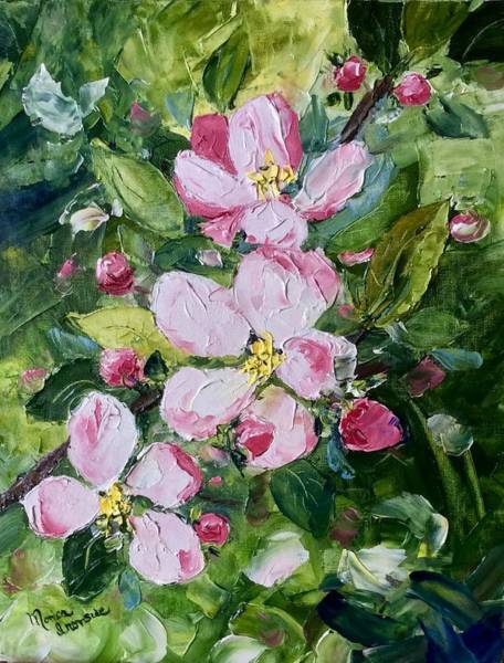 Painting - Apple Blossoms  by Monica Ironside