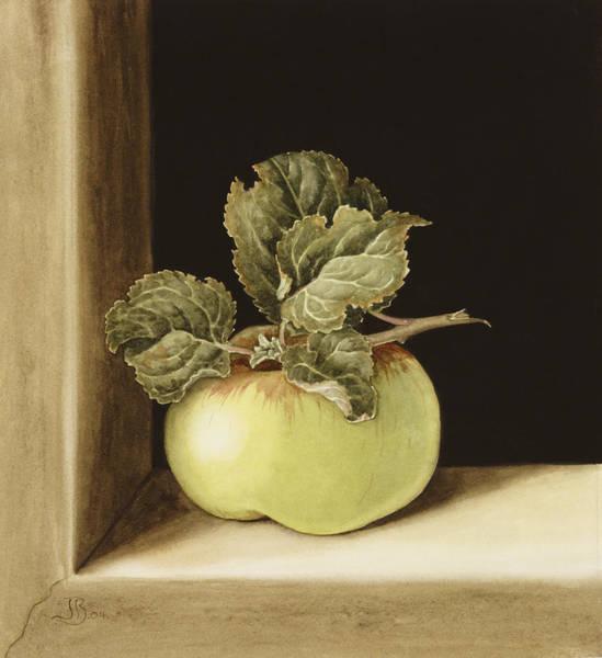 Sill Wall Art - Painting - Apple by Jenny Barron