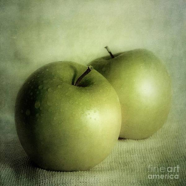 Dark Green Wall Art - Photograph - Apple Painting by Priska Wettstein