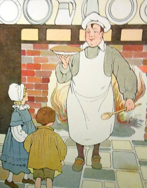 Mother Goose Drawing - Apple Pie by Lord Frederick Lyle Morris - Disabled Veteran