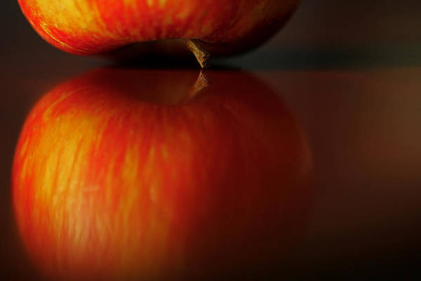 Photograph - Apple Reflection by Bob Cournoyer