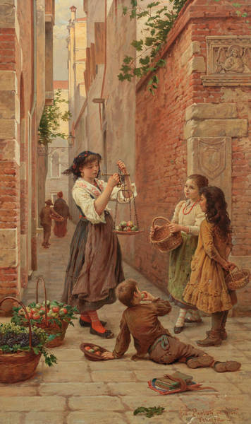 Matter Painting - Apple Sellers by Antonio Ermoao Paoletti