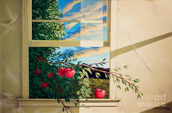 Painting - Apple Tree Overflowing by Christopher Shellhammer