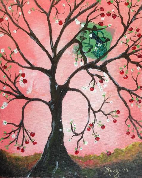 Food And Beverage Painting - Apple Tree by Roxy Rich