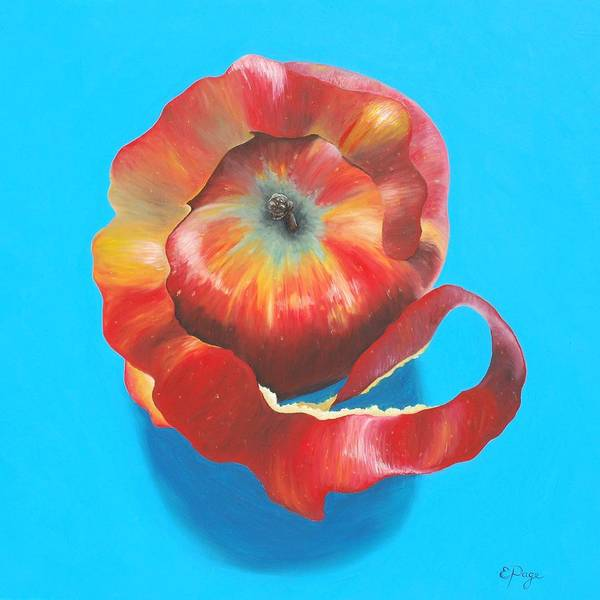 Apple Peel Painting - Apple Twist by Emily Page