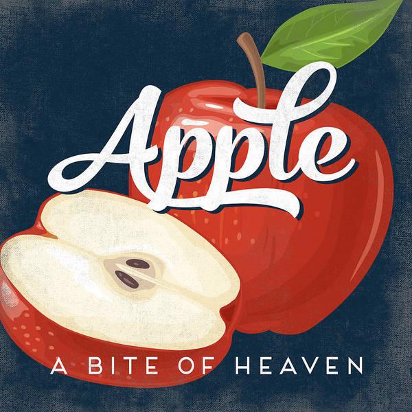 Advertisement Digital Art - Apple Vintage Fruit Label by Flo Karp