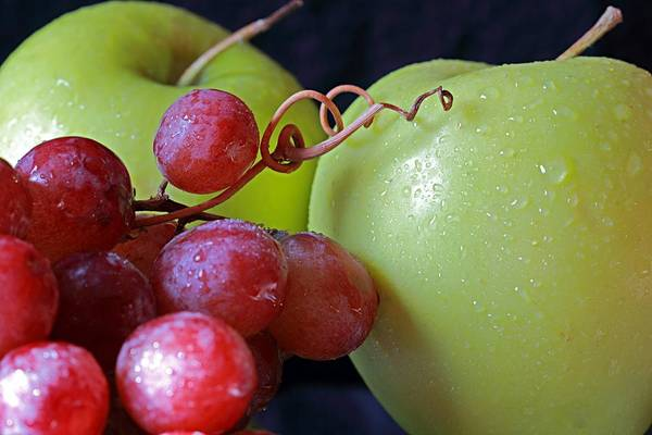 Photograph - Apples And Grapes by Angela Murdock