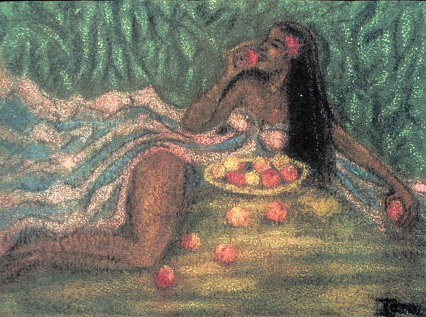 Ione Painting - Apples And Oranges by Ione Citrin