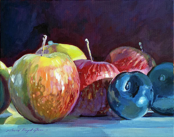 Painting - Apples And Plums  by David Lloyd Glover