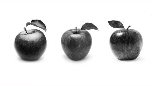 Wall Art - Photograph - Apples In Black And White by Mark Rogan