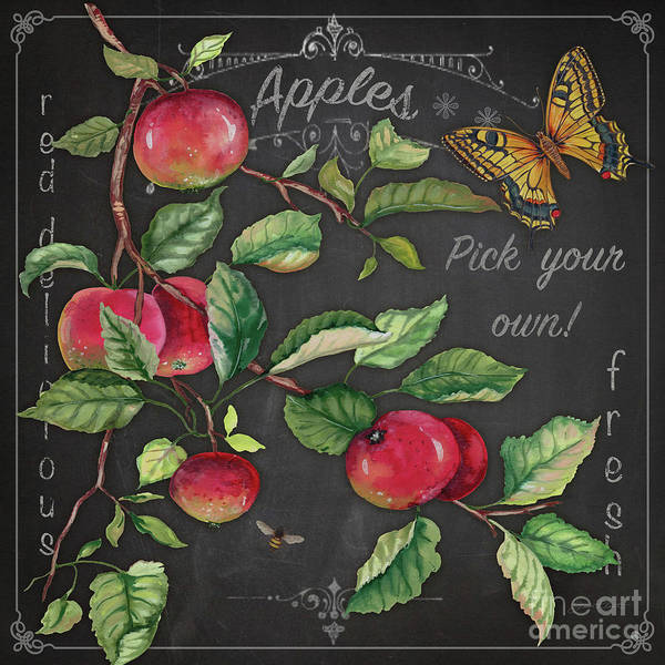 Wall Art - Painting - Apples-jp3913 by Jean Plout
