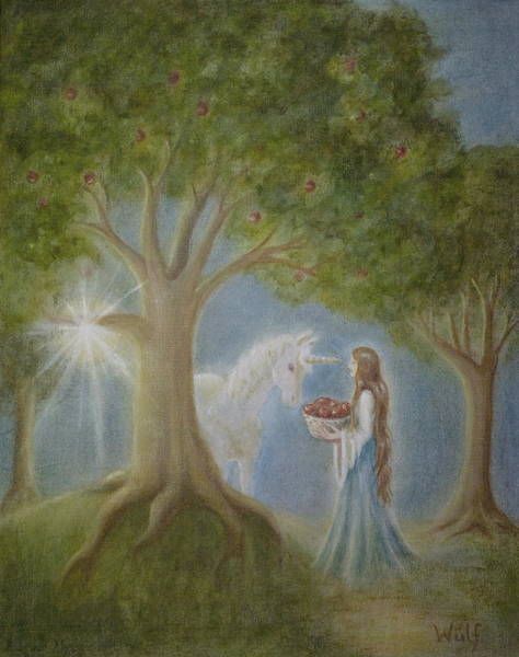 Painting - Apples Of Avalon by Bernadette Wulf