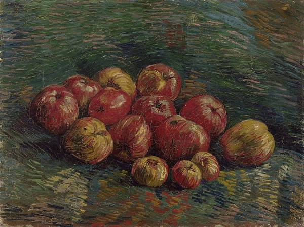 Painting - Apples Paris, September - October 1887 Vincent Van Gogh 1853 - 1890 by Artistic Panda