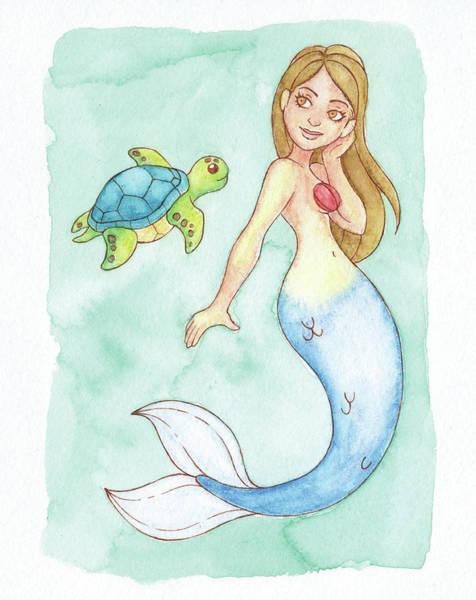 Inking Painting - Approach Mermaid - Mermay 2018 by Armando Elizondo