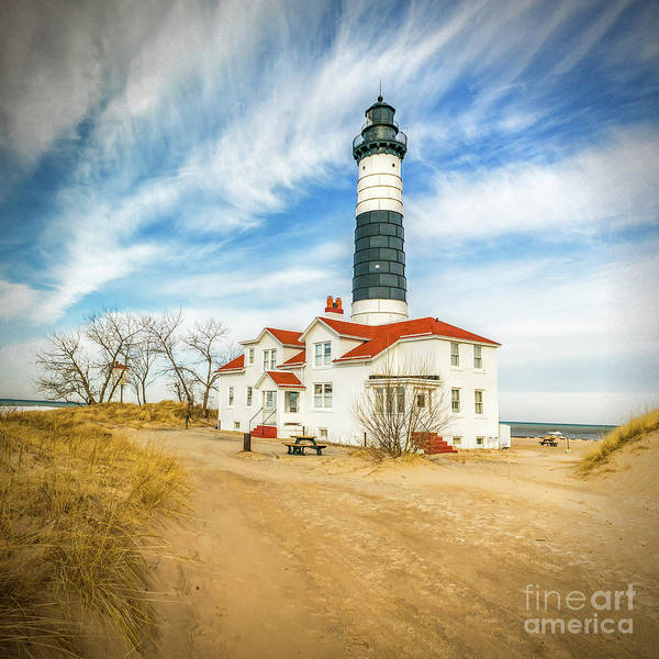 Photograph - Approach To Big Sable Light by Nick Zelinsky