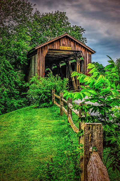 Photograph - Approach To Hunseckers Mill Bridge by Nick Zelinsky