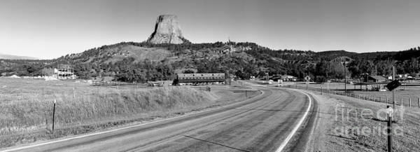 Photograph - Approaching Devils Tower - Black And White by Adam Jewell