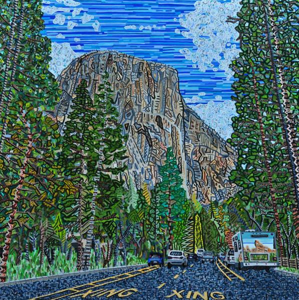 Wall Art - Painting - Approaching El Capitan Yosemite National Park by Micah Mullen