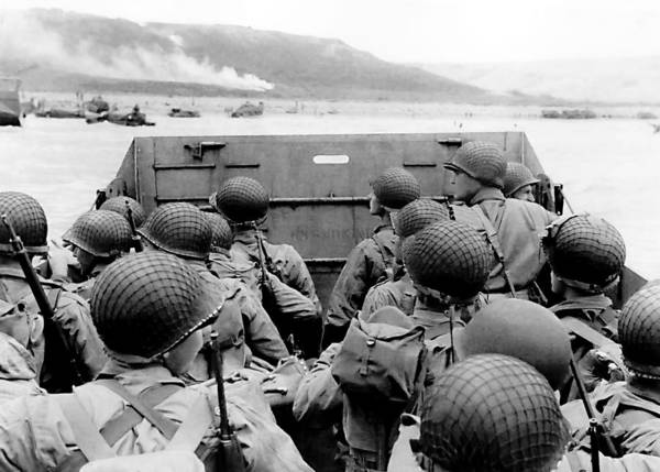 Wall Art - Photograph - Approaching Omaha Beach - Invasion Of Normandy - June 6, 1944 by War Is Hell Store