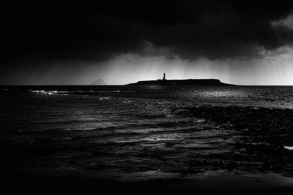 Photograph - Approaching Storm, Ailsa Craig And Pladda Island by Peter OReilly