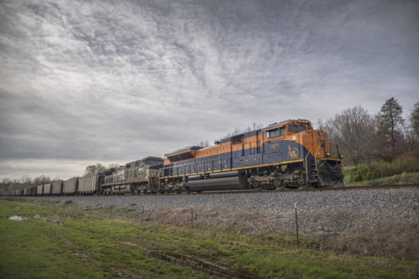 Norfolk Southern Railway Wall Art - Photograph - April 1 2016 Norfolk Southerns 1071 At Caneyville Ky by Jim Pearson