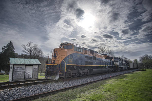Norfolk Southern Railway Wall Art - Photograph - April 1 2016 Norfolk Southerns 1071 At Rosine Ky by Jim Pearson