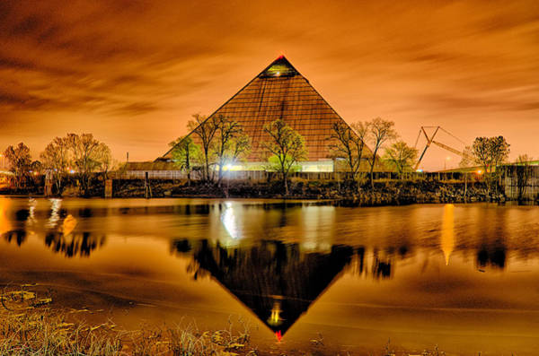 Memphis Grizzlies Wall Art - Photograph - April 2015 - The Pyramid Sports Arena In Memphis Tennessee by Alex Grichenko