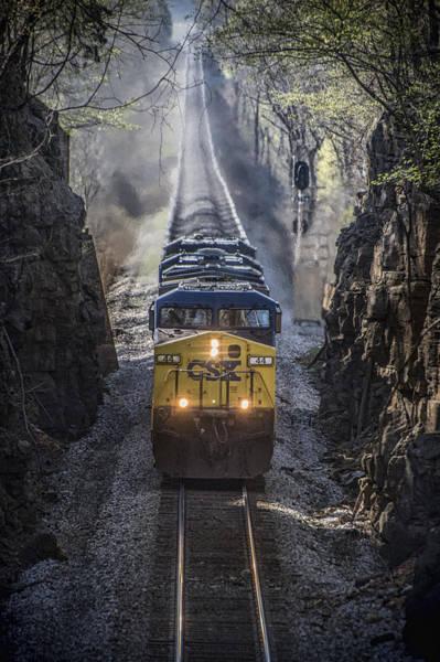 Subdivision Photograph - April 4. 2015 - Csx Loaded Coal Train T087 by Jim Pearson