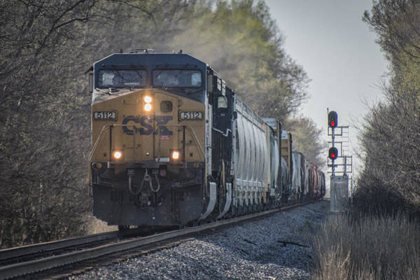 Subdivision Photograph - April 4. 2015 - Csx Q645 At Guthrie Ky by Jim Pearson
