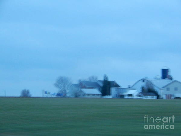 Photograph - April Evening On An Amish Farm by Christine Clark