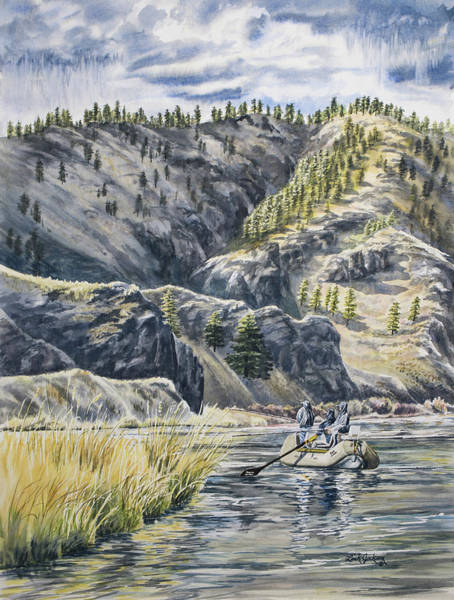 Trout Watercolor Wall Art - Painting - April In Montana by Link Jackson