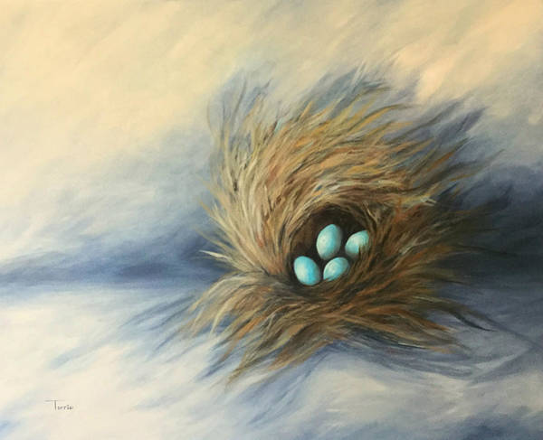 Wall Art - Painting - April Nest by Torrie Smiley