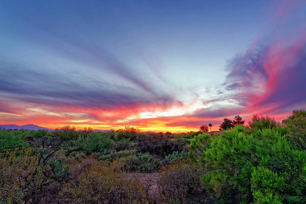 Photograph - April Southwest Sunset H1728 by Mark Myhaver