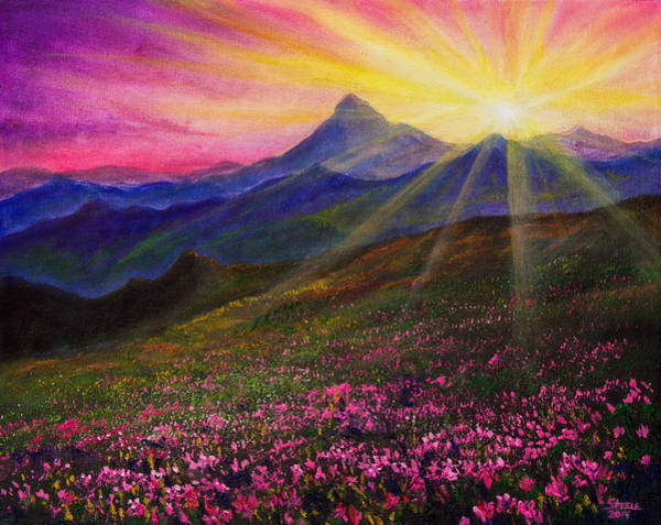 Wall Art - Painting - April Sunset by Chris Steele