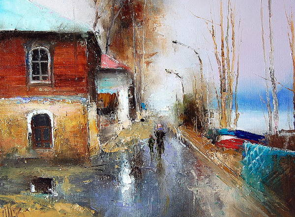 Painting - April. The River Volga by Igor Medvedev