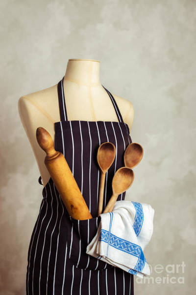 Apron Wall Art - Photograph - Apron With Utensils by Amanda Elwell