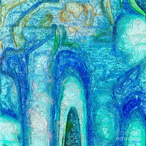 Digital Art - Aqua Abstract by Dee Flouton