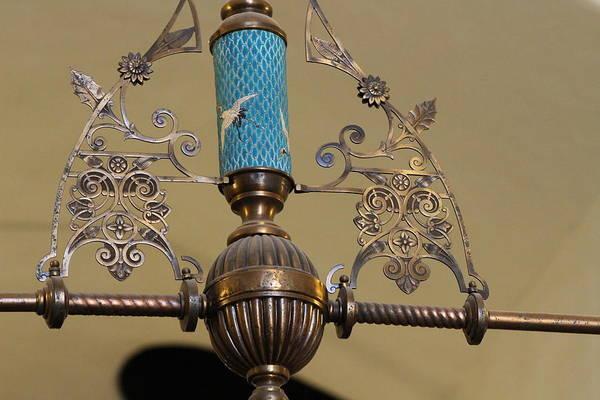 Photograph - Aqua And Copper Lighting by Colleen Cornelius