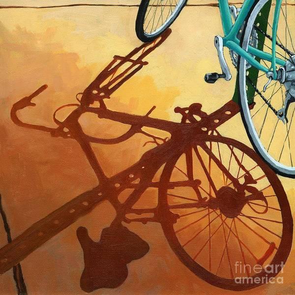 Wall Art - Painting - Aqua Angle by Linda Apple