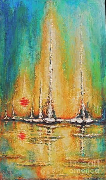 Painting - Aqua Bay by Kaata    Mrachek