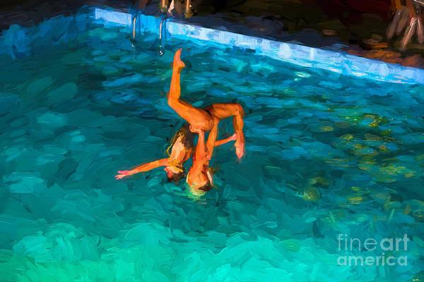 Photograph - Aqua Dancers by Les Palenik