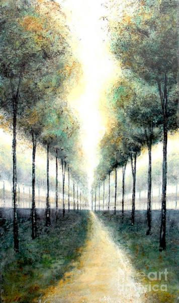 Painting - Aqua De France by Kaata Mrachek