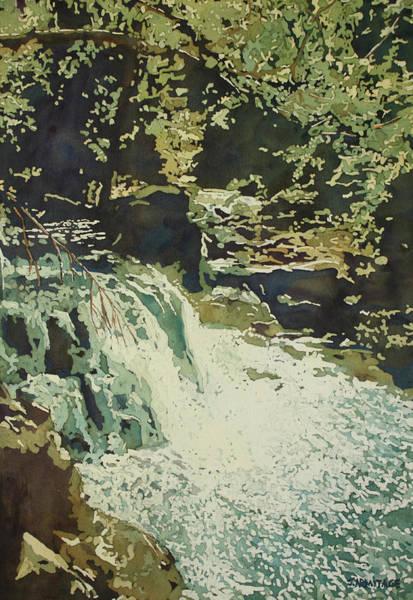 Painting - Aqua Falls by Jenny Armitage