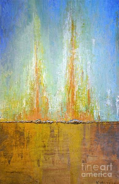 Painting - Aqua Full Sea Sand by Kaata    Mrachek