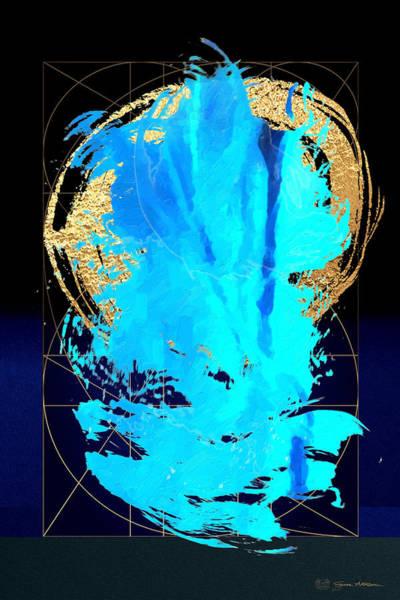 Digital Art - Aqua Gold No. 4 by Serge Averbukh