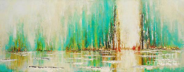 Painting - Aqua Home Bay by Kaata    Mrachek
